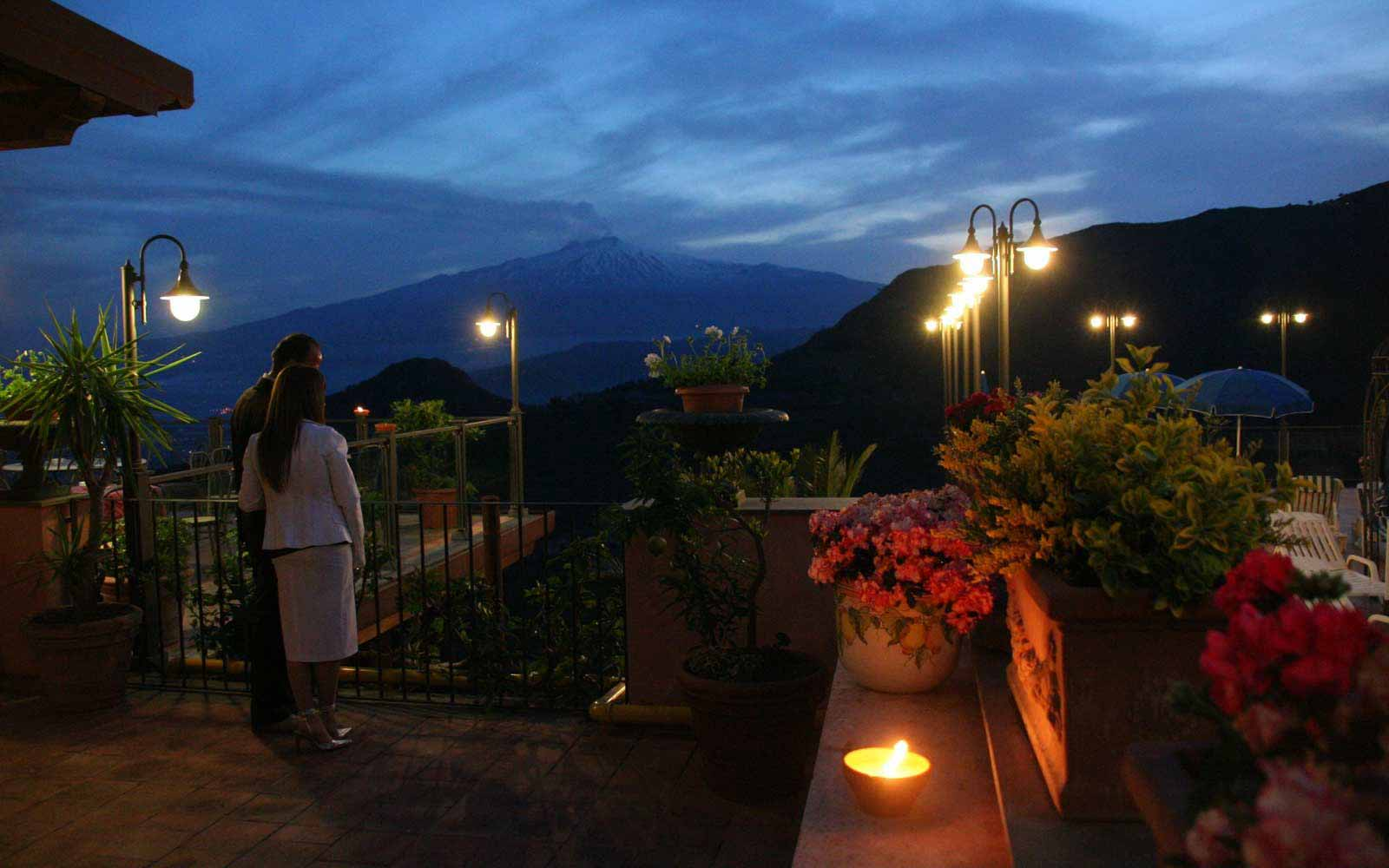 Romantic setting at Hotel Villa Sonia