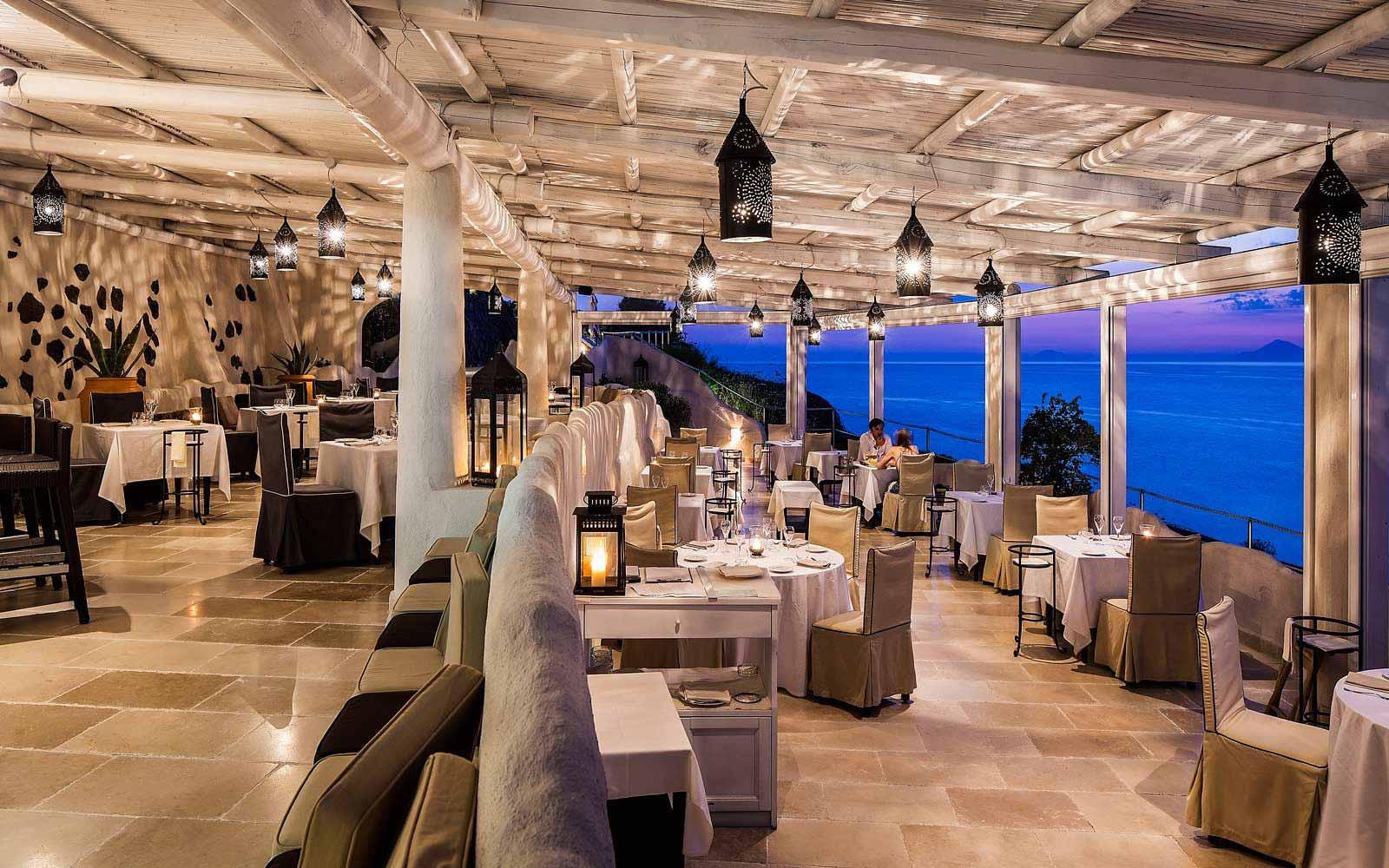 Il Cappero restaurant at Therasia Resort & Spa
