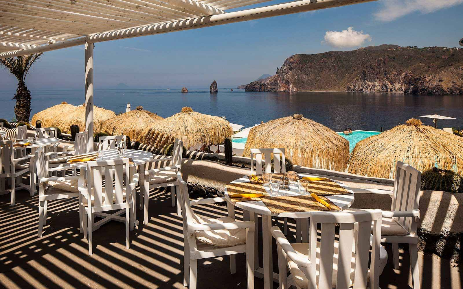 The I Grusoni restaurant at Therasia Resort & Spa