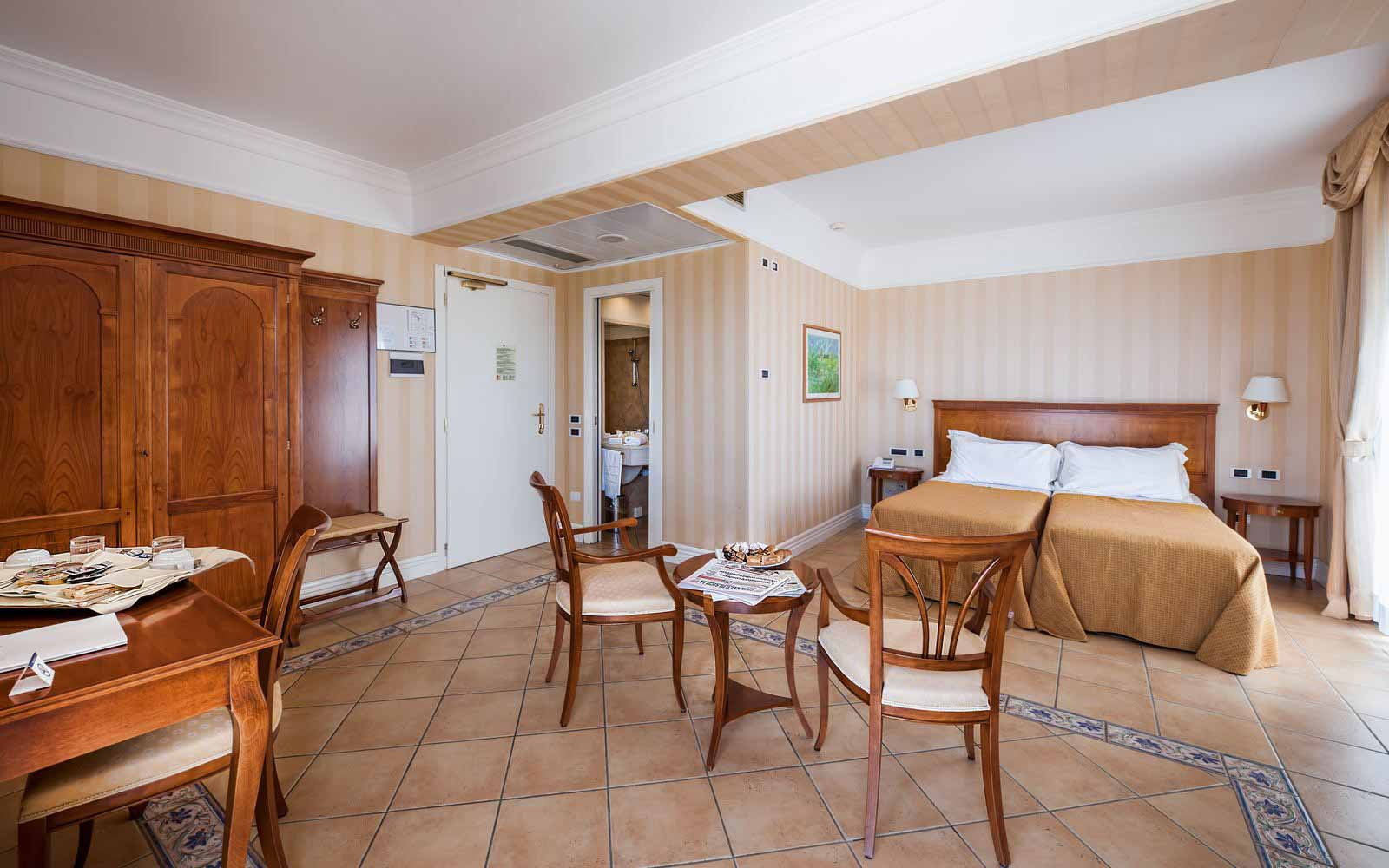 Junior suite at Dioscuri Bay Palace