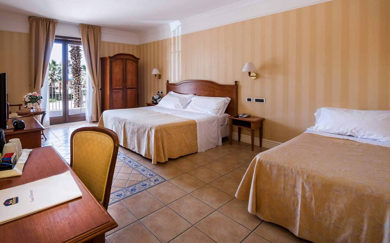 Triple room at Dioscuri Bay Palace
