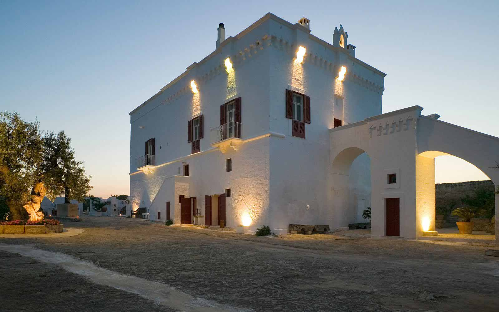 Exterior view of Masseria Torre Coccaro