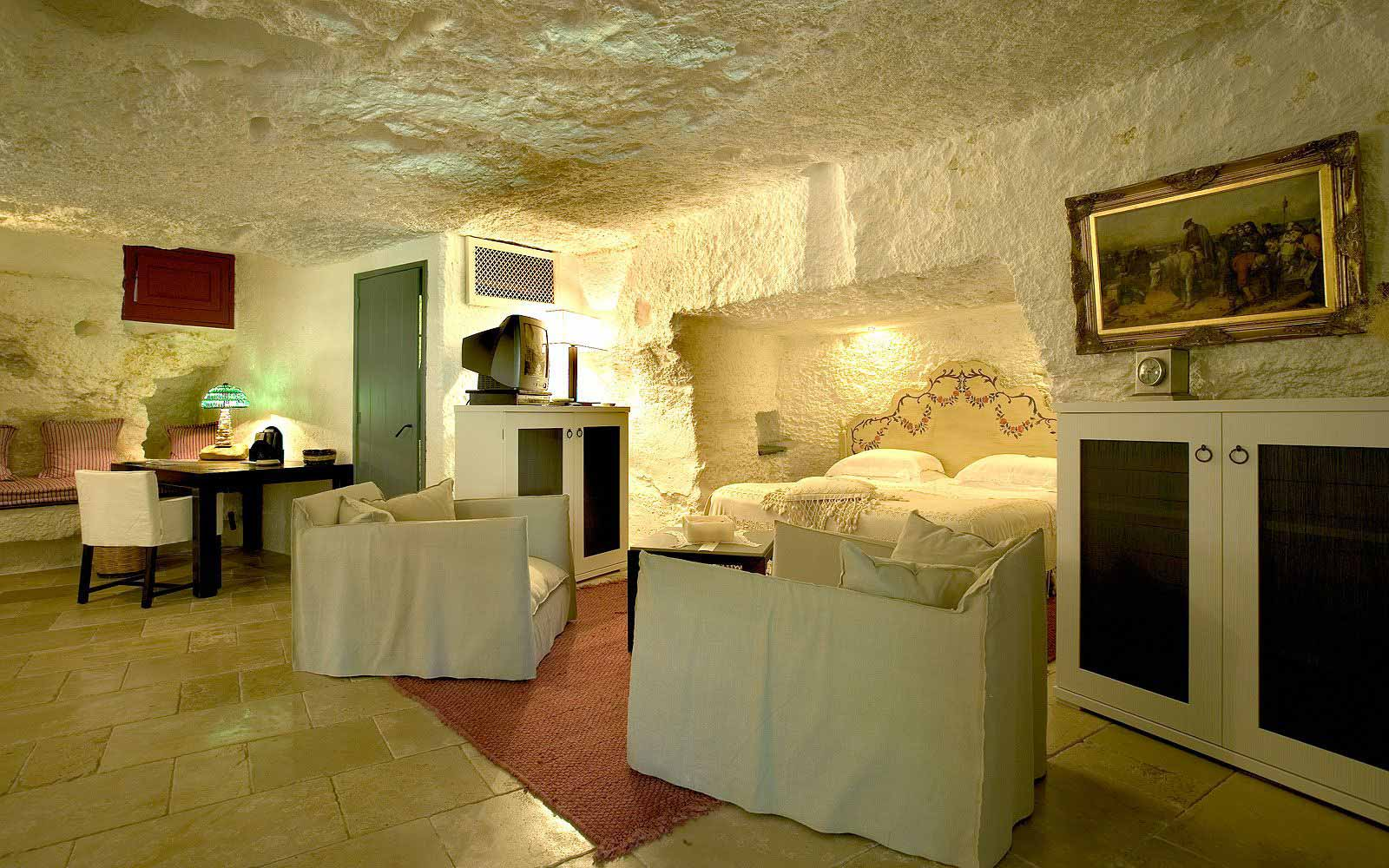 Orange garden suite at Masseria Torre Coccaro