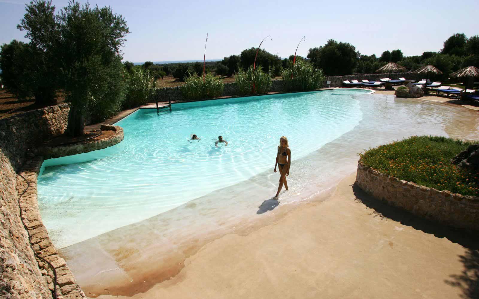 Swimming pool at Masseria Torre Coccaro