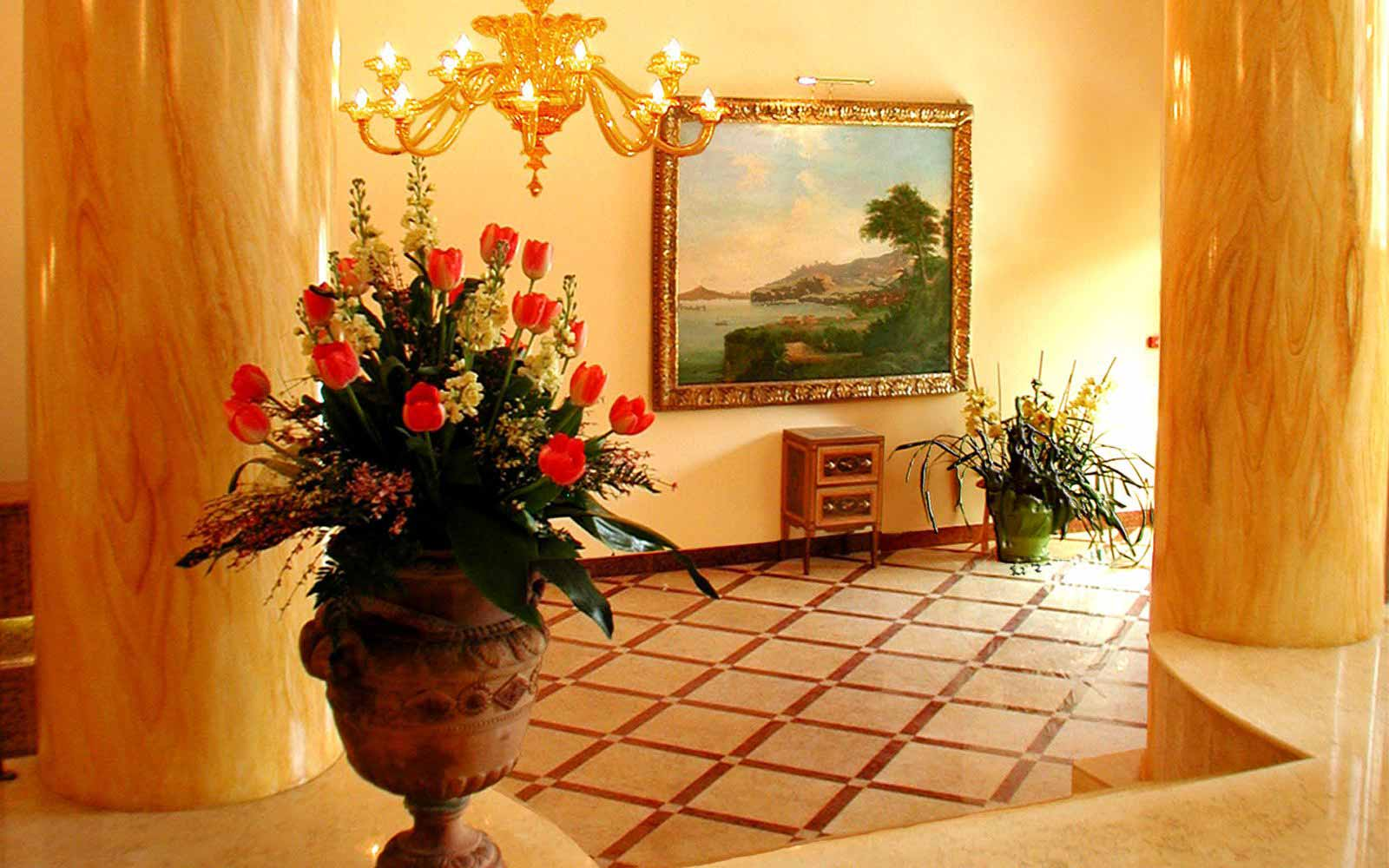 Reception hall at Hotel Antiche Mura