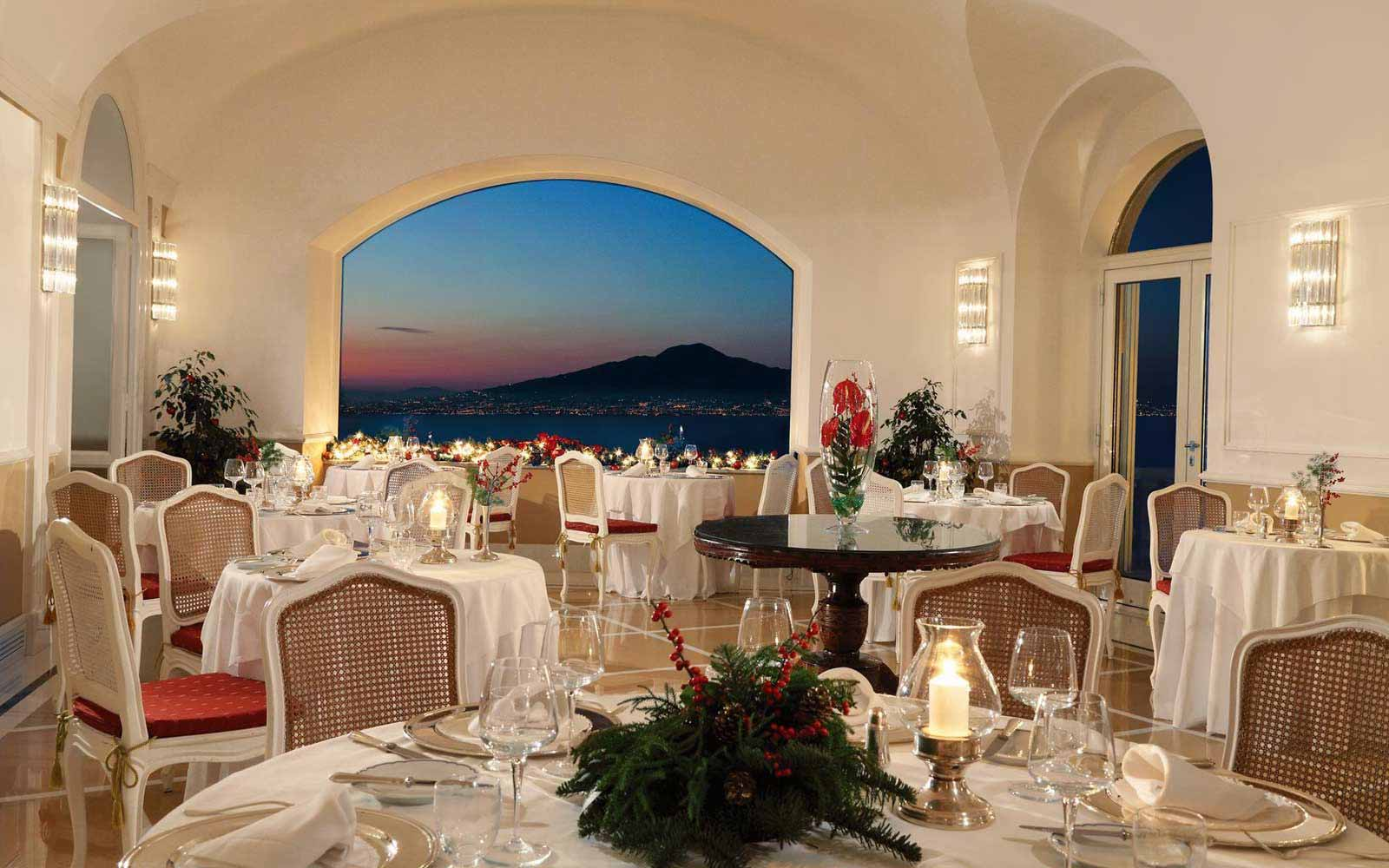 Terrazza Bosquet restaurant at the Grand Hotel Excelsior Vittoria