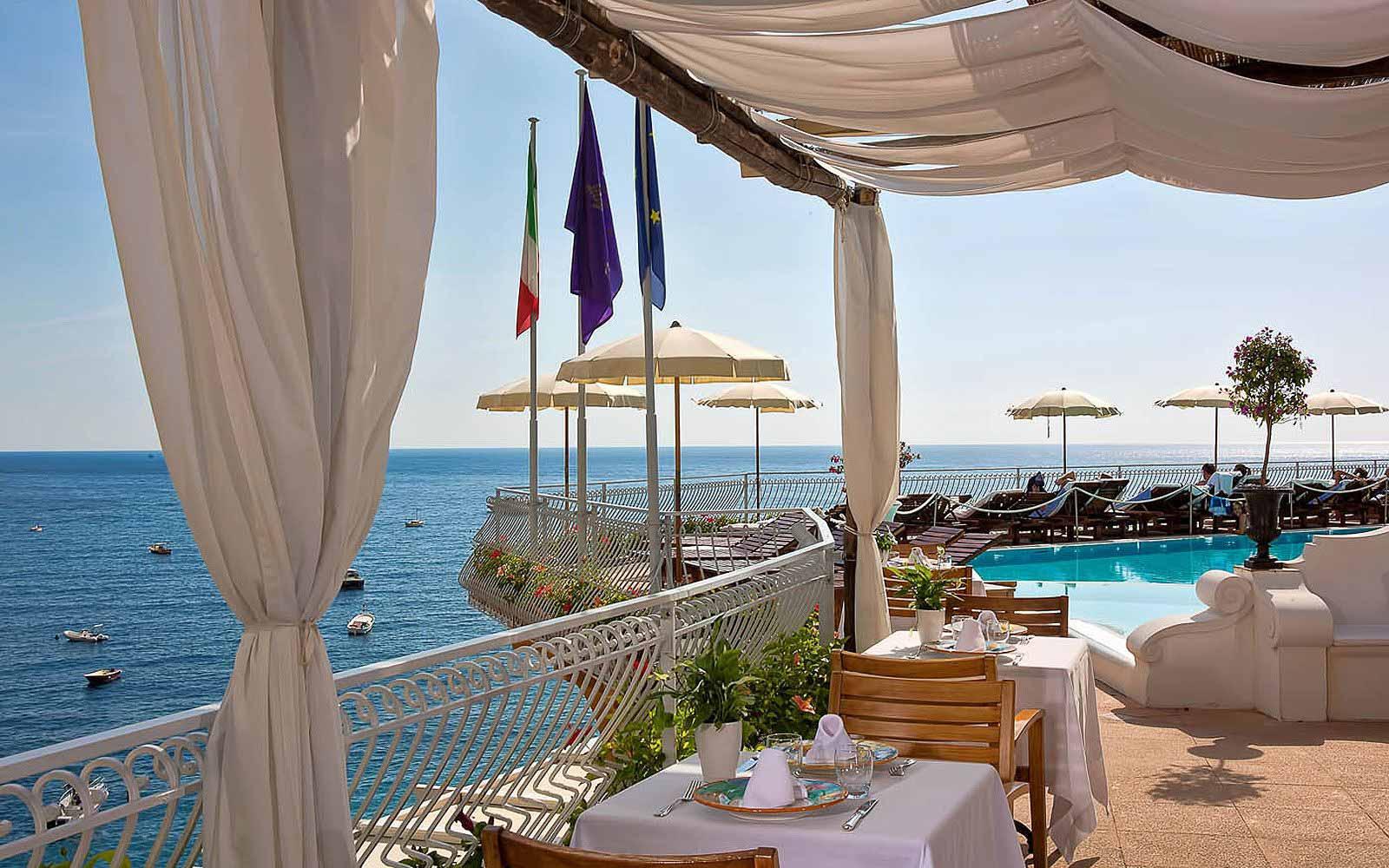 Pool Restaurant at Covo Dei Saraceni
