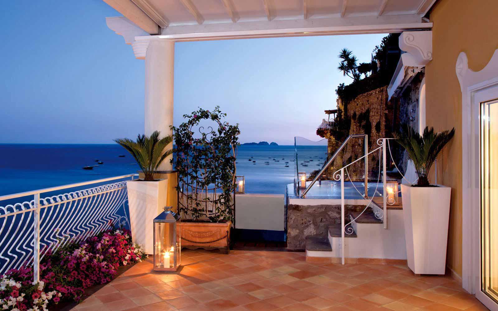 Private terrace at Covo Dei Saraceni