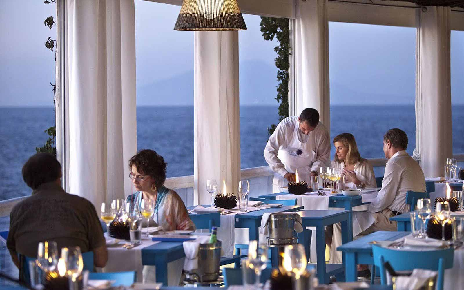 il Riccio Restaurant at the Capri Palace Hotel & Spa