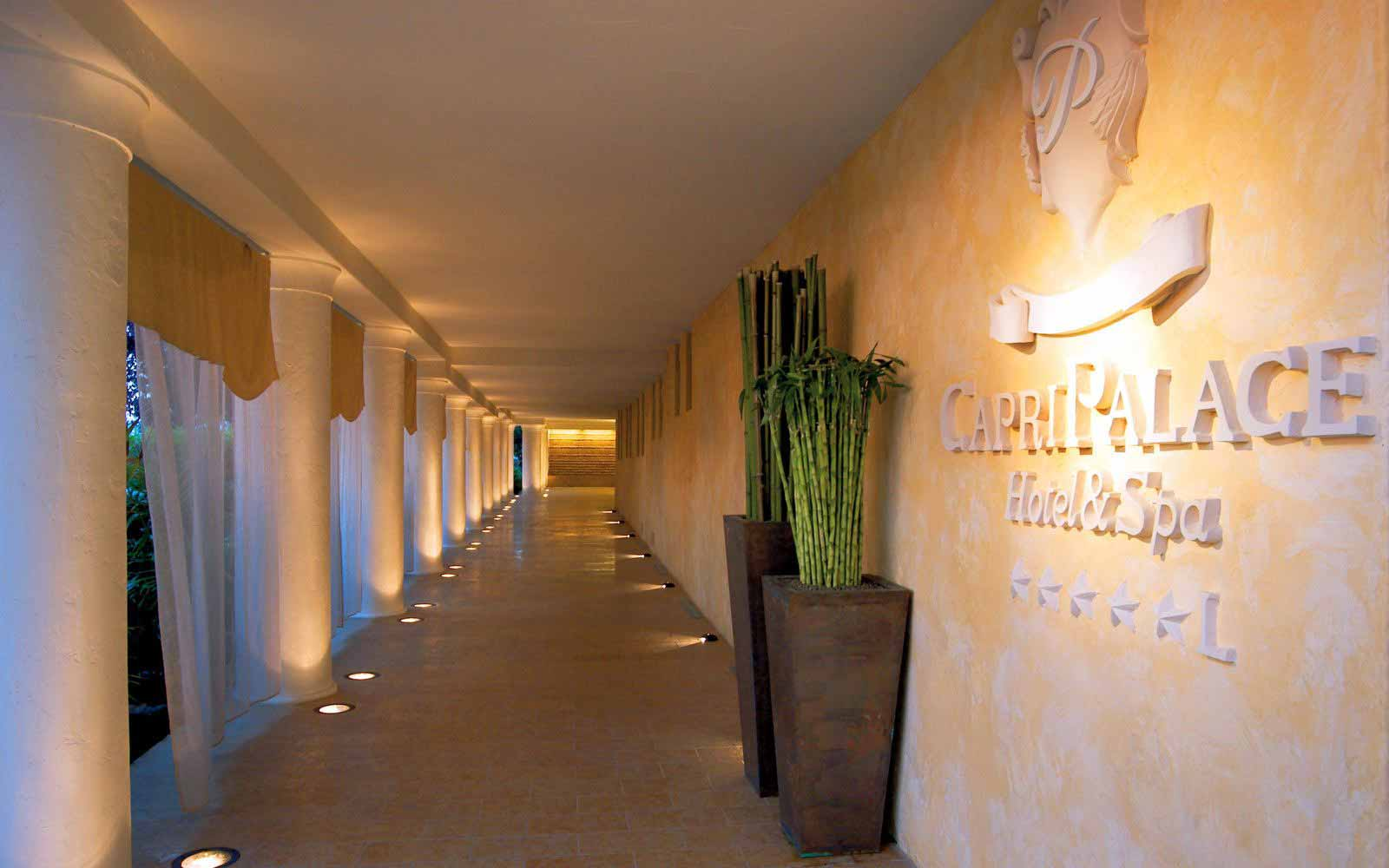 Arrival corridor at Capri Palace Hotel & Spa