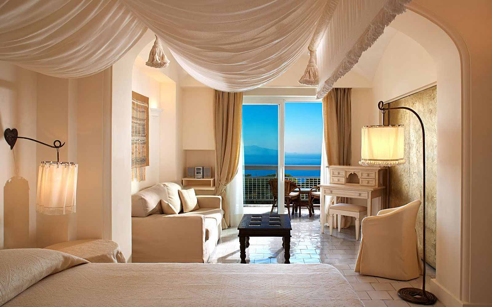 Deluxe Room with seaview at Capri Palace Hotel & Spa
