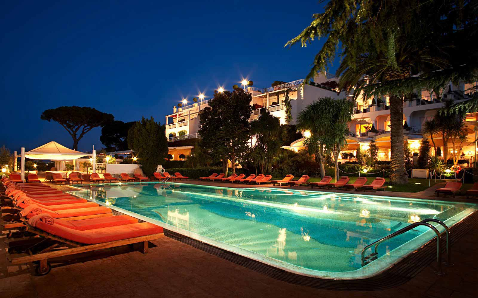 Swimming pool at Capri Palace Hotel & Spa