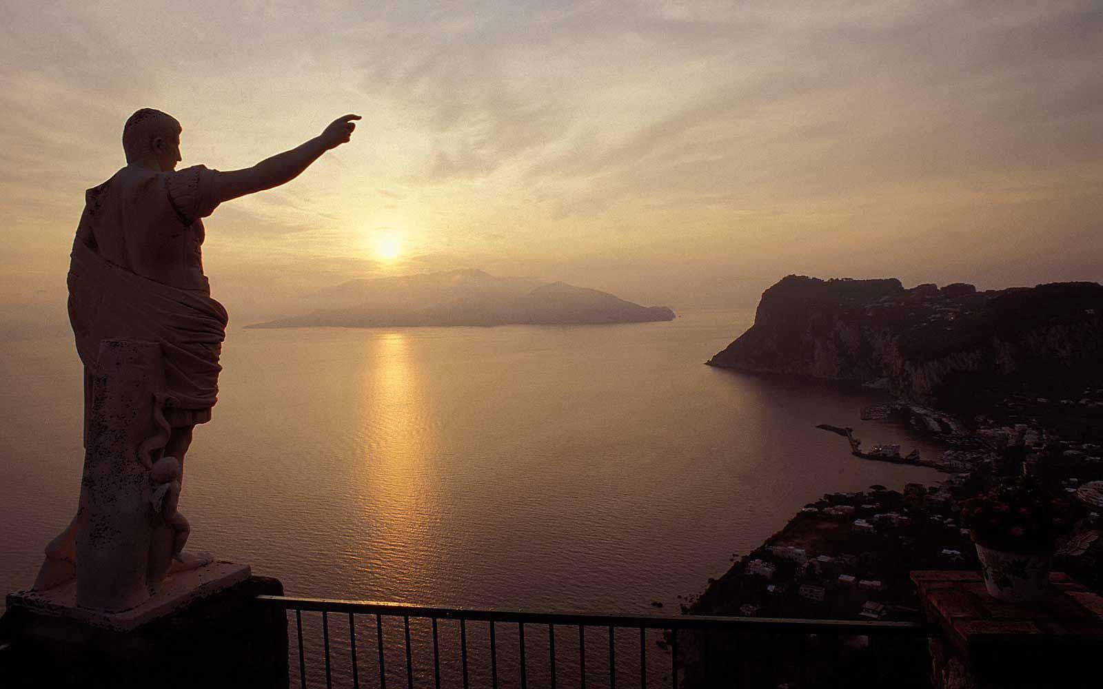 Sunset at Hotel Caesar Augustus