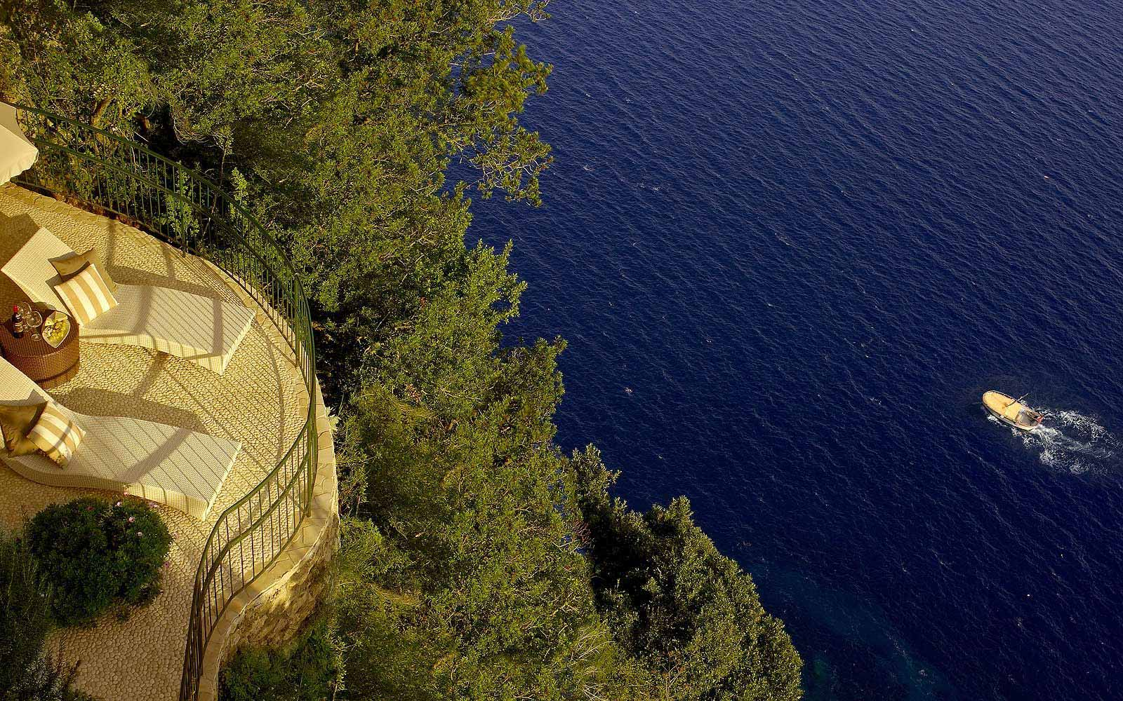 Panoramic view of a balcony at Hotel Caesar Augustus