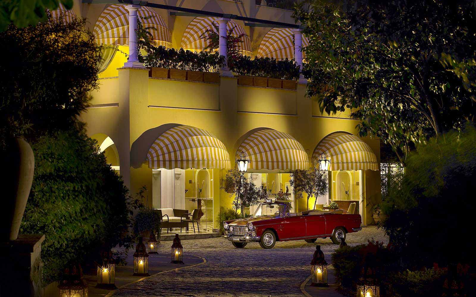 Entrance to the Hotel Caesar Augustus