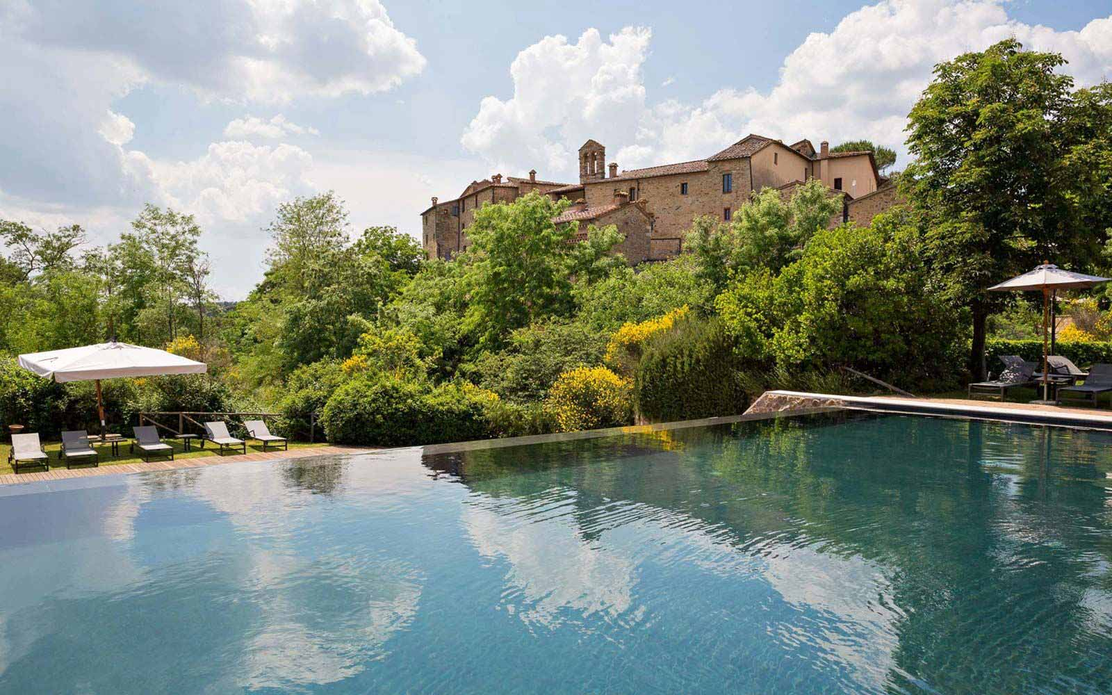 External Pool at Castel Monastero Tuscan Resort & Spa