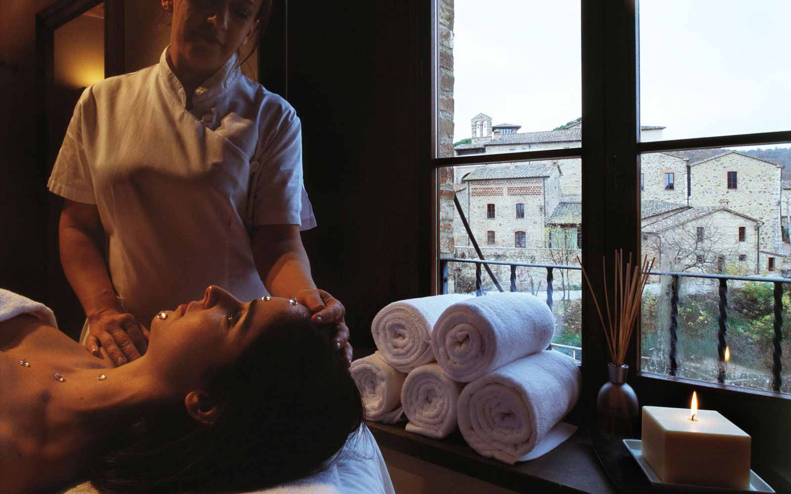 Massage treatment at Castel Monastero Tuscan Resort & Spa