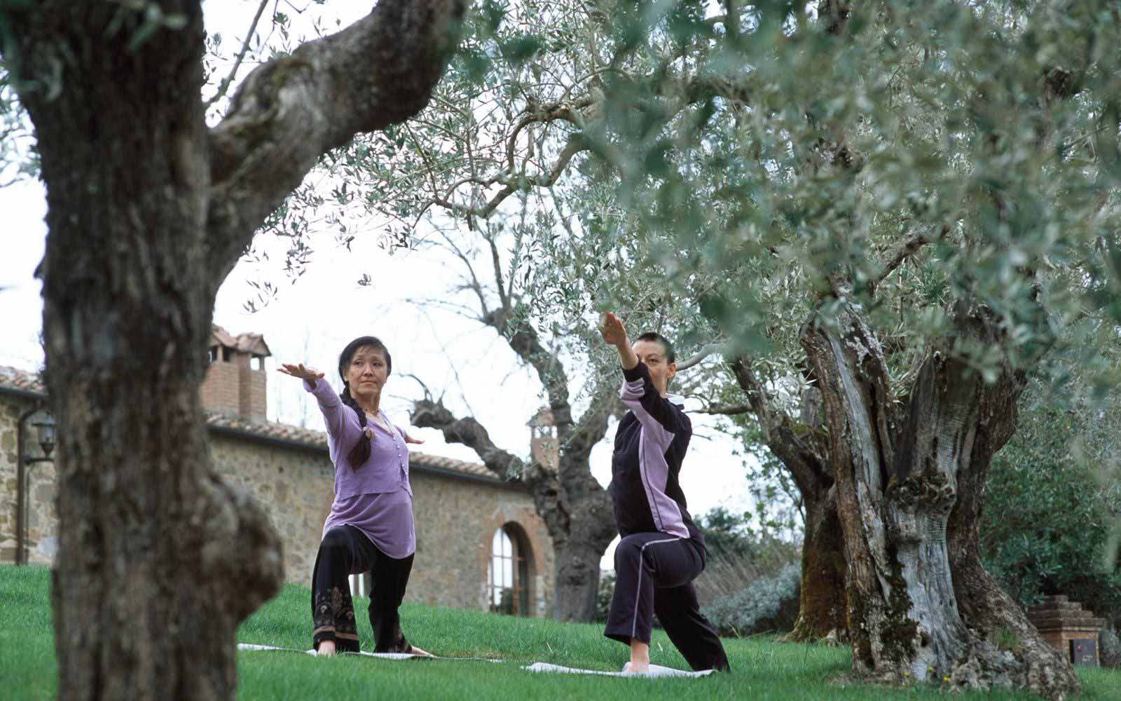 Yoga at Castel Monastero Tuscan Resort & Spa