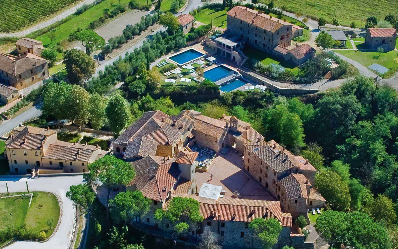 Aerial View of Castel Monastero Tuscan Resort & Spa