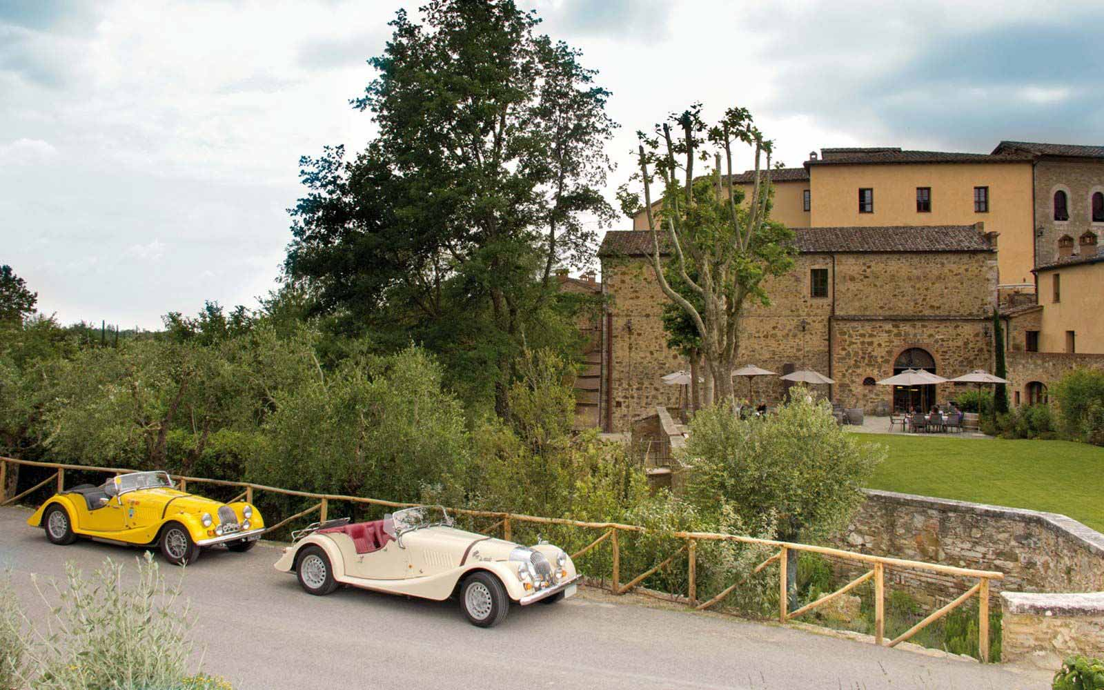 Vintage cars at Castel Monastero Tuscan Resort & Spa