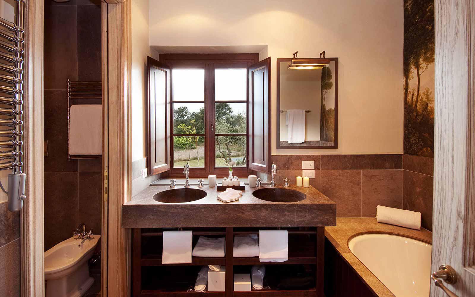 Bathroom at Castel Monastero Tuscan Resort & Spa