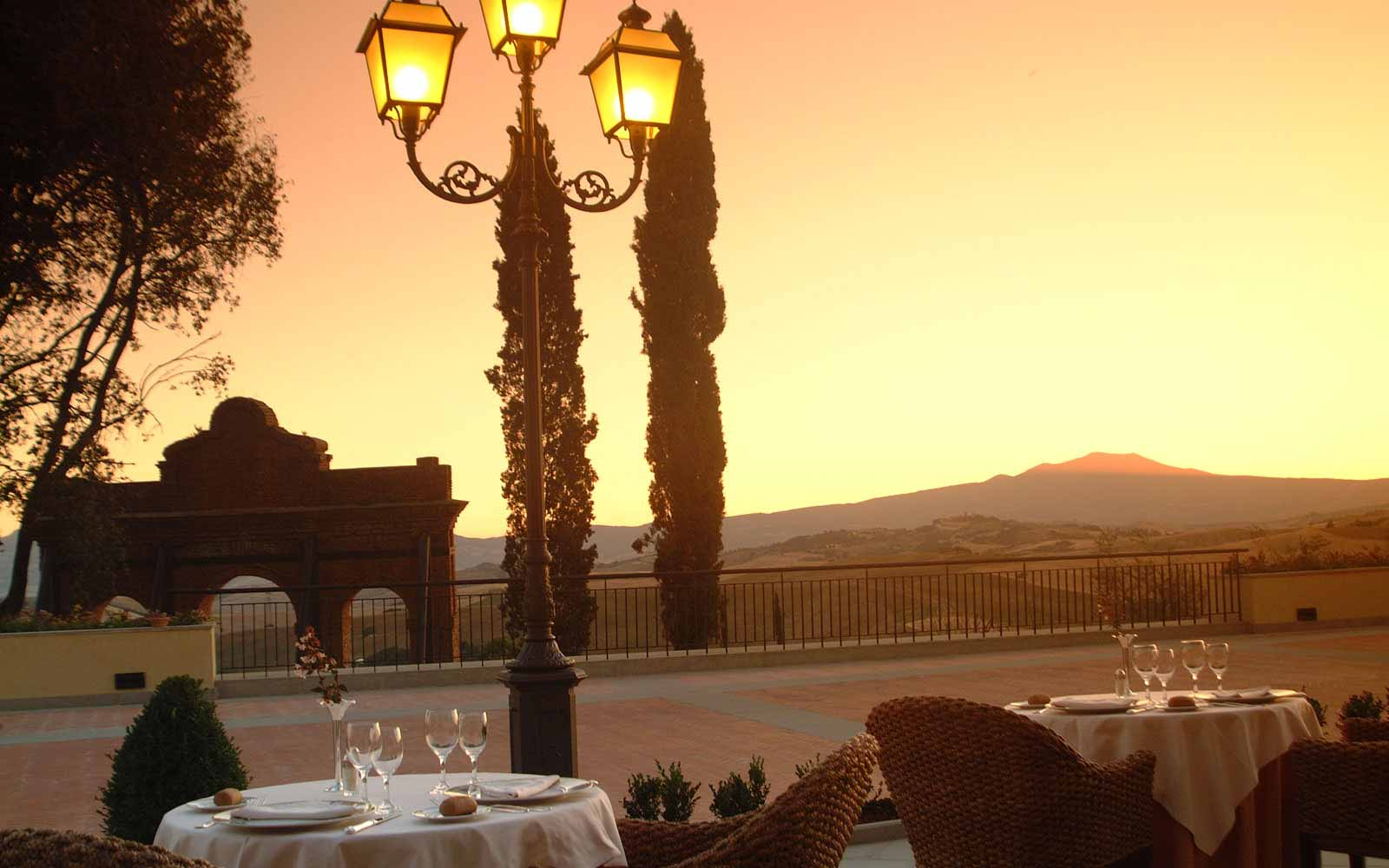 Restaurant with view at the Fonteverde
