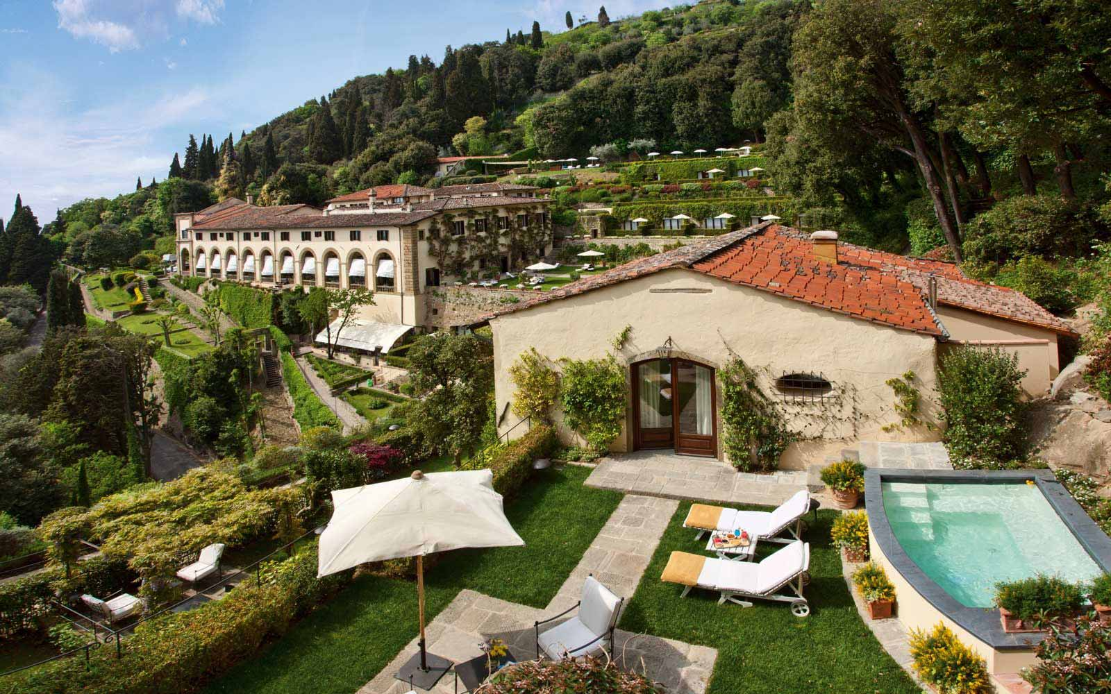 Private terrace at Belmond Villa San Michele