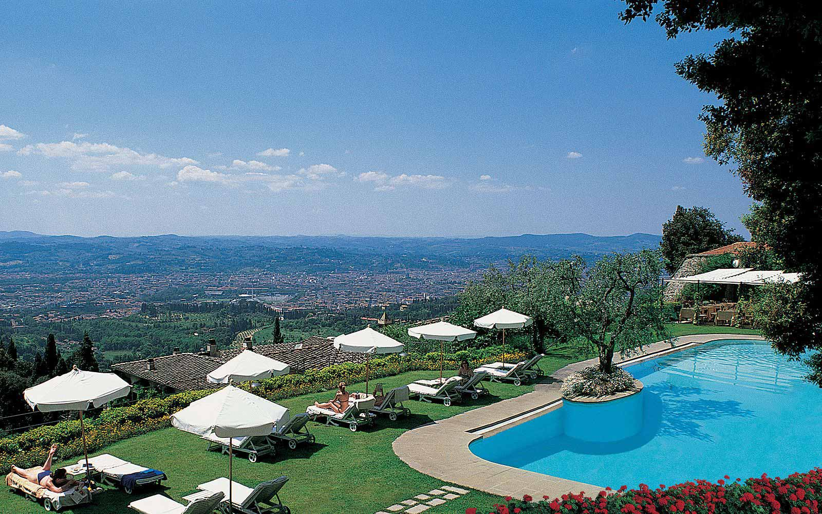 Swimming pool with a view at Belmond Villa San Michele