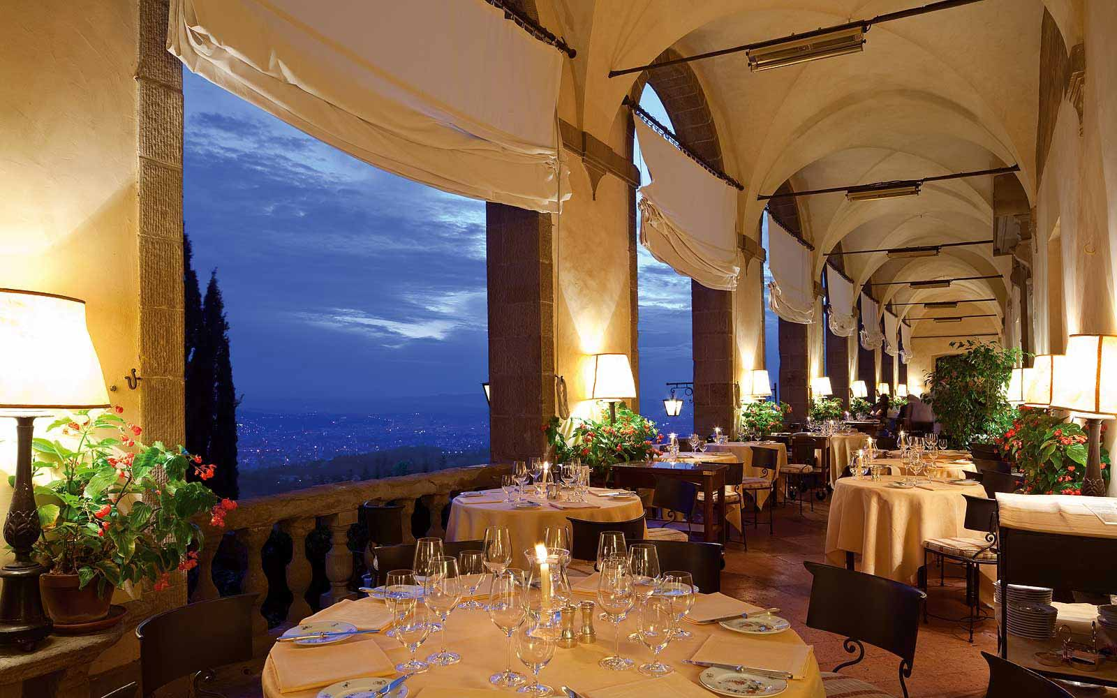 View from the La Loggia Restaurant terrace at Belmond Villa San Michele