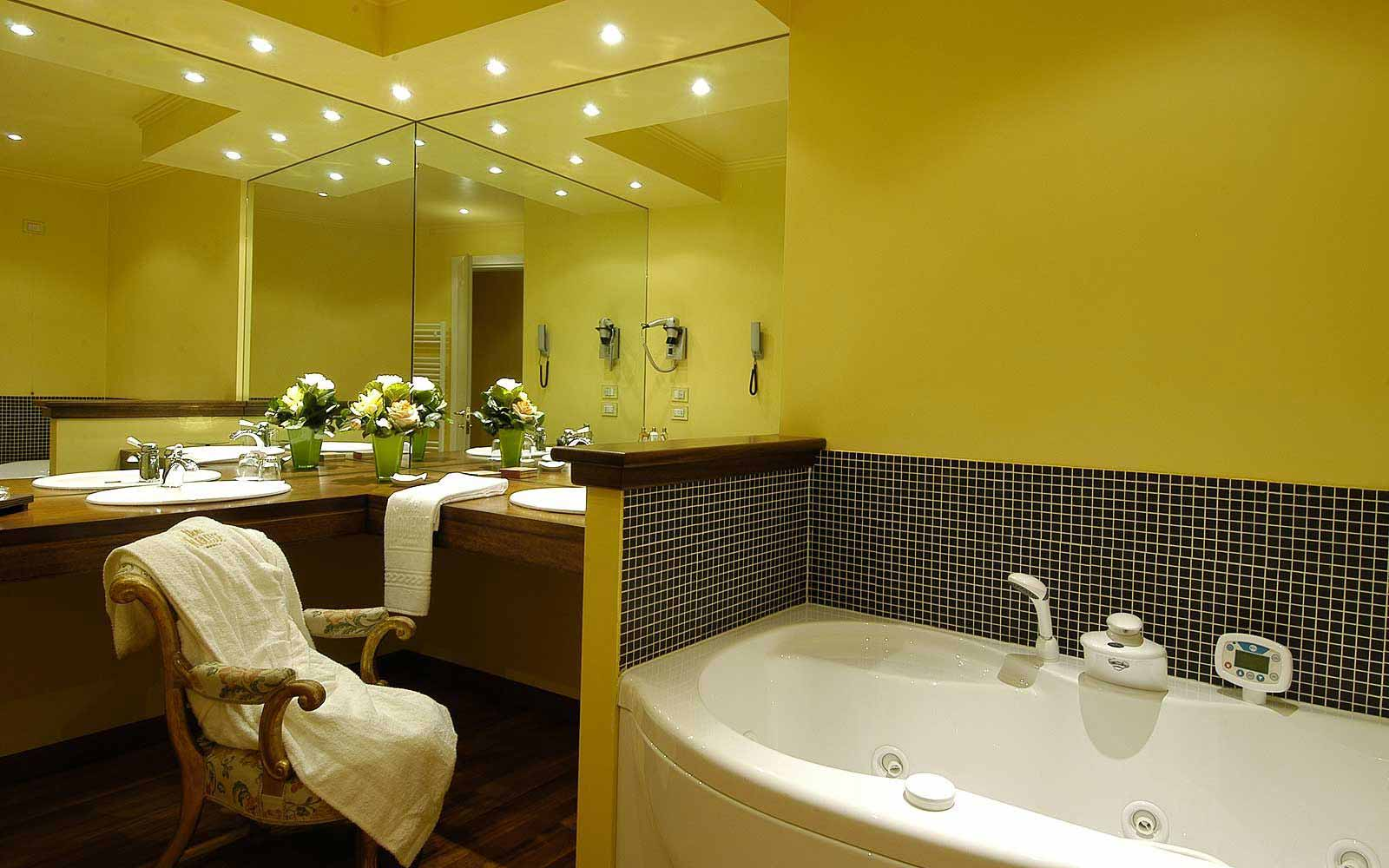 A junior suite bathroom at Hotel Noblesse