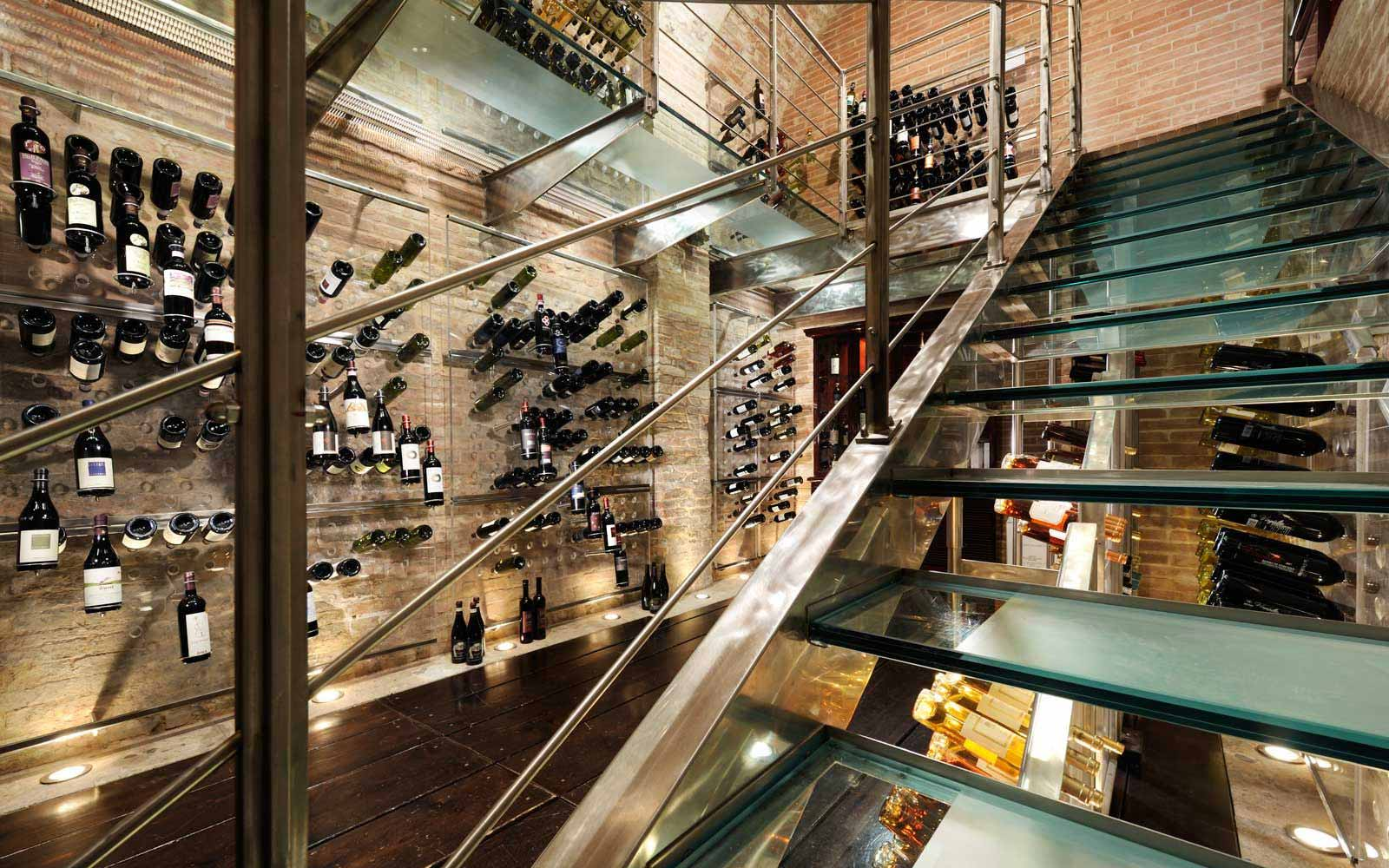 Wine cellar at the Grand Hotel Continental