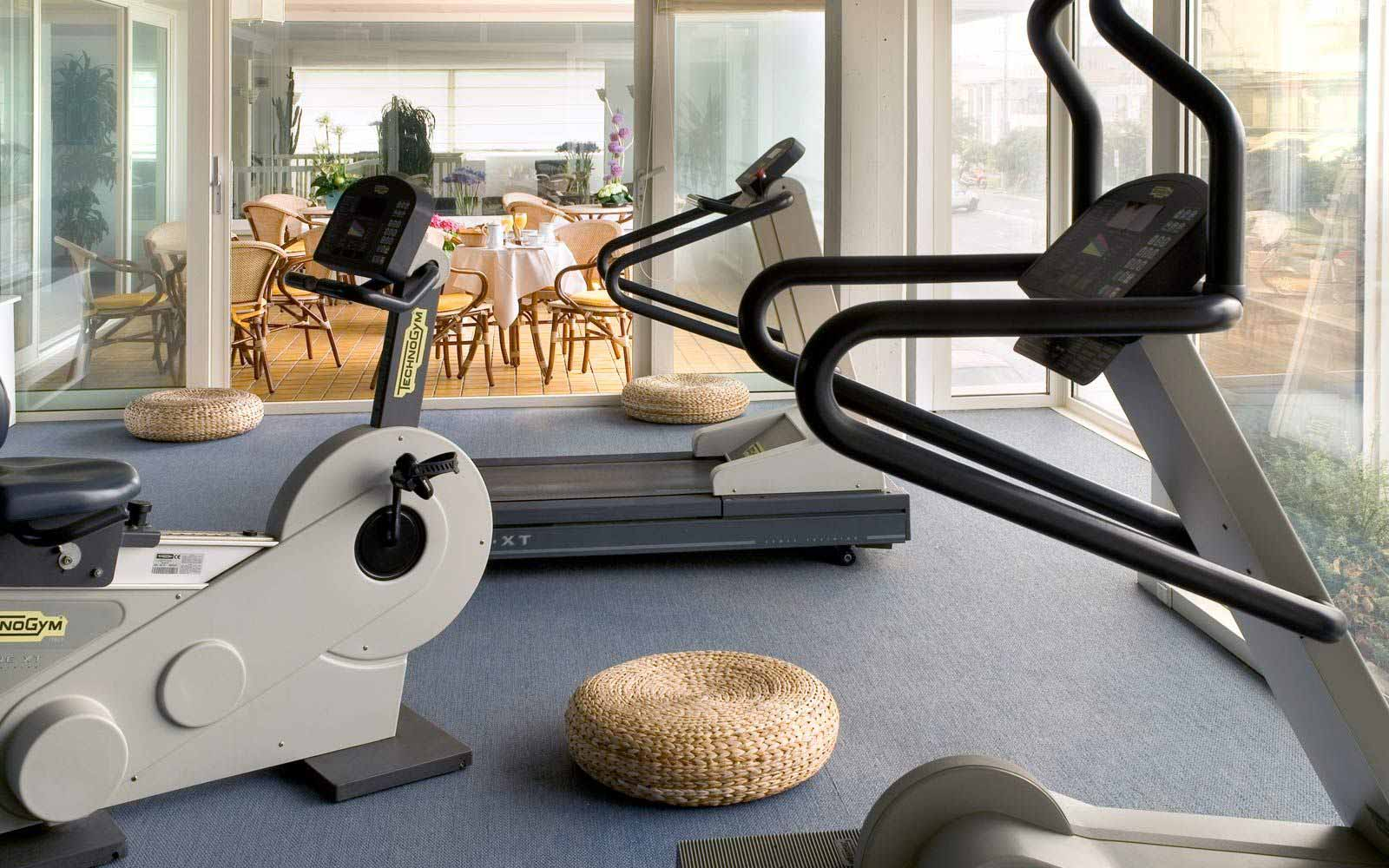 Fitness room at Hotel Astor