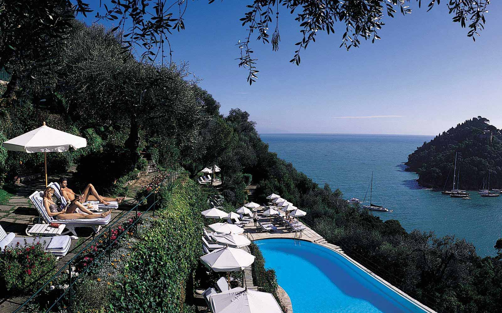 Swimming pool at Belmond Hotel Splendido & Splendido Mare