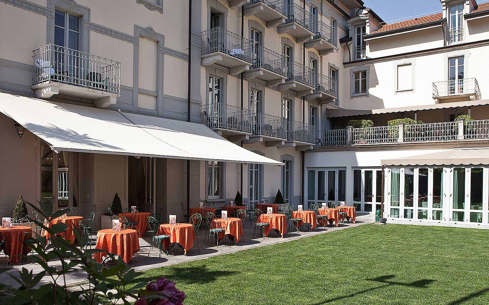 Garden restaurant at Grand Hotel Imperiale