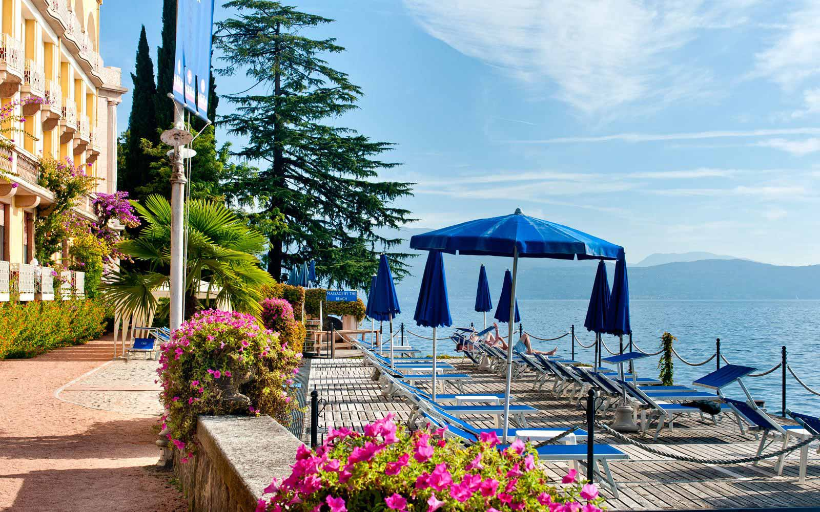 Sunbathing deck at Grand Hotel Gardone