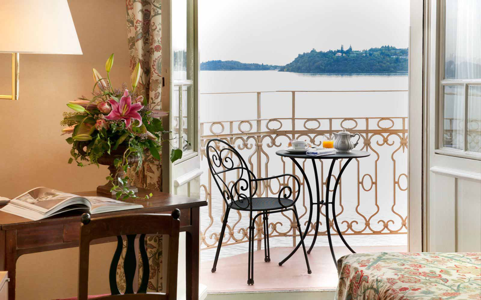 Private balcony at Grand Hotel Gardone