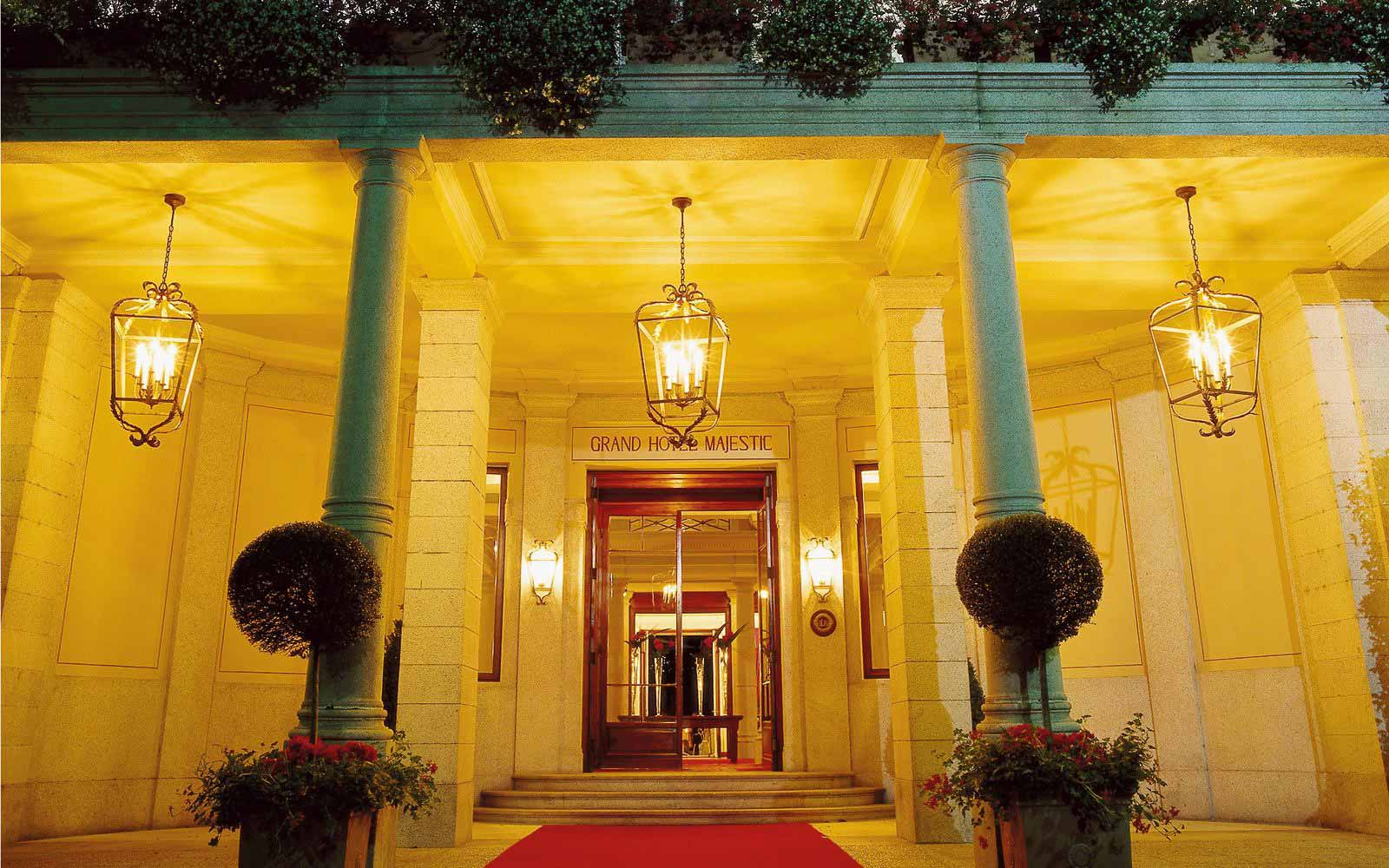 Maine entrance at Grand Hotel Majestic
