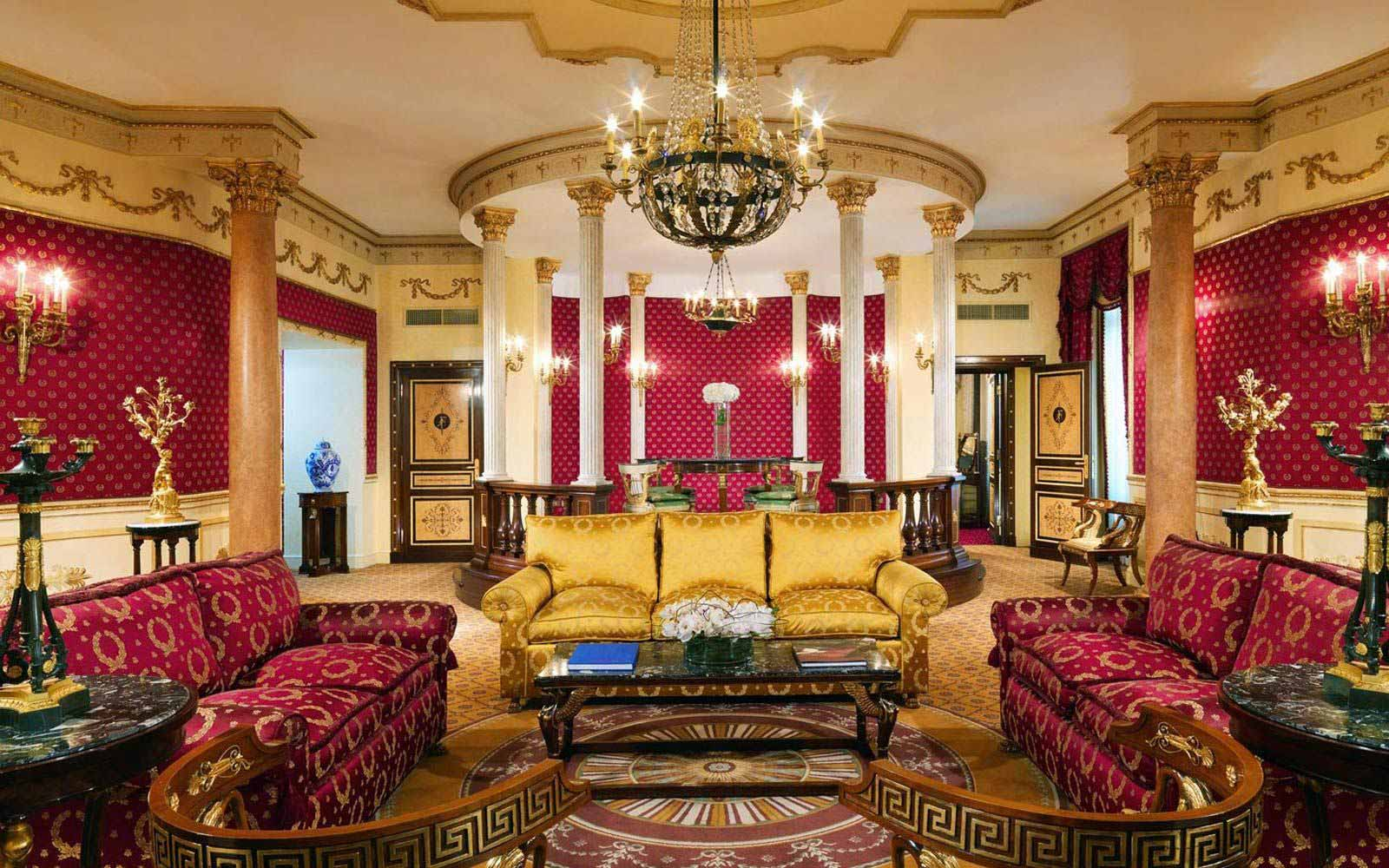 Living room in the Imperial suite at The Westin Excelsior