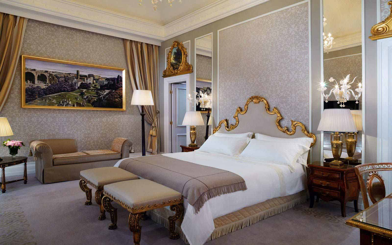Royal suite bedroom at St.Regis Grand Hotel