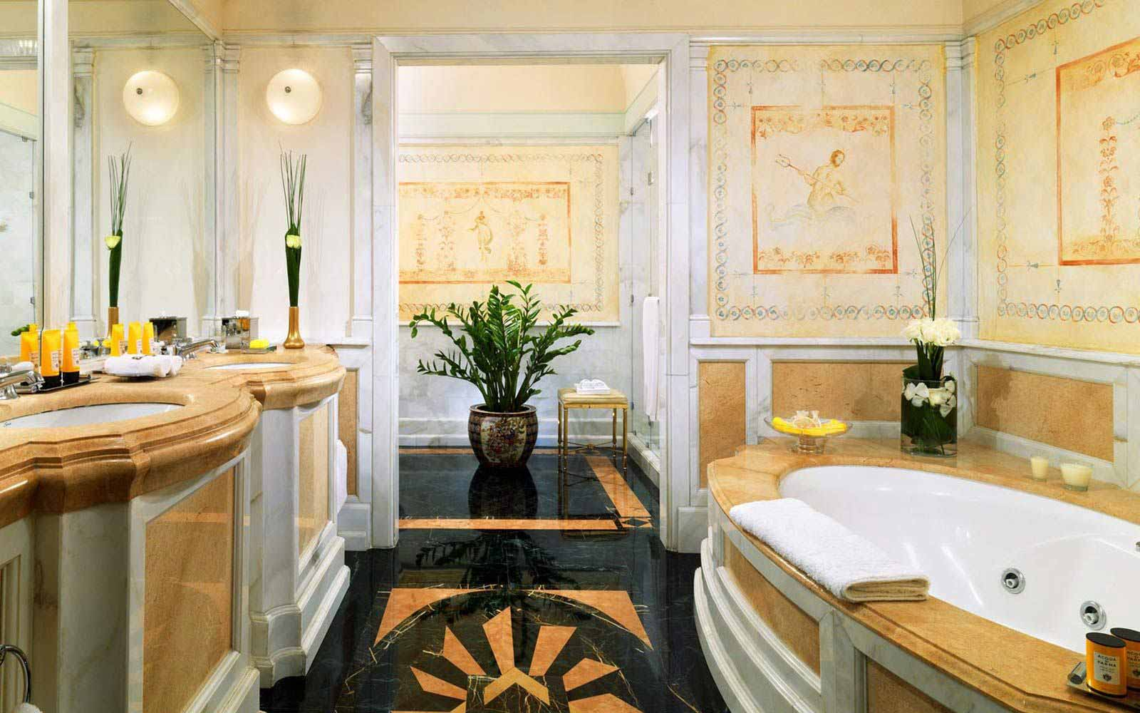 Designer suite bathroom at St.Regis Grand Hotel