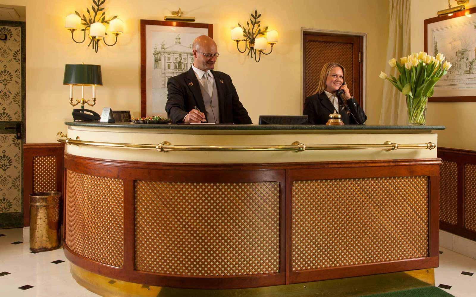 Reception at Hotel Ludovisi Palace