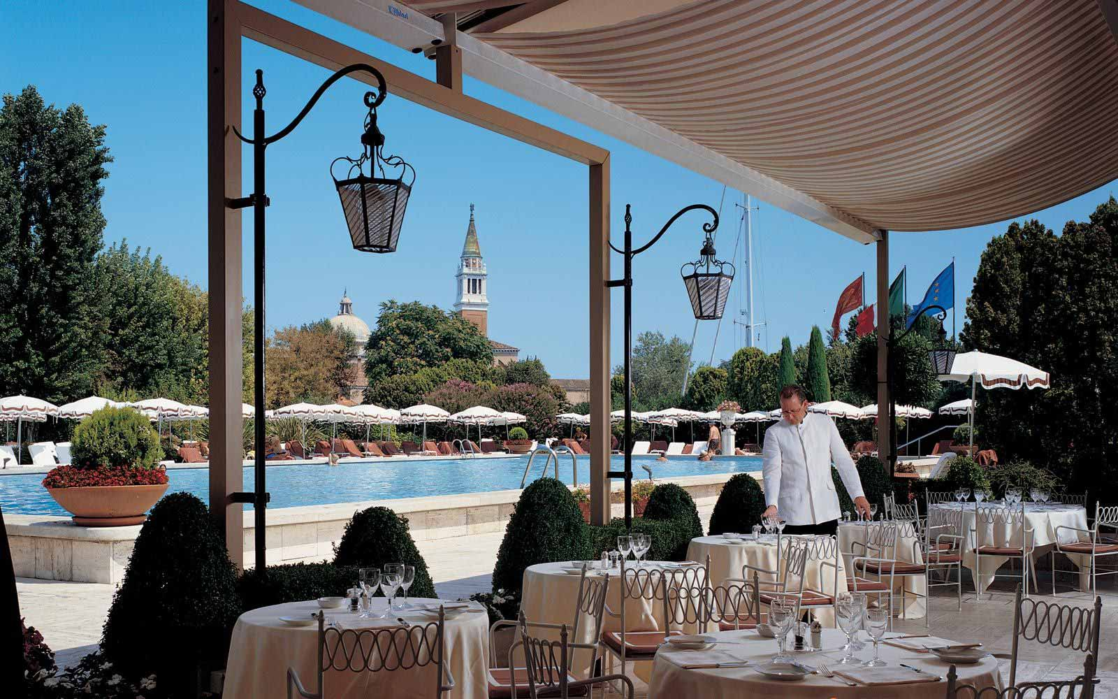 Outdoor restaurant at Belmond Hotel Cipriani