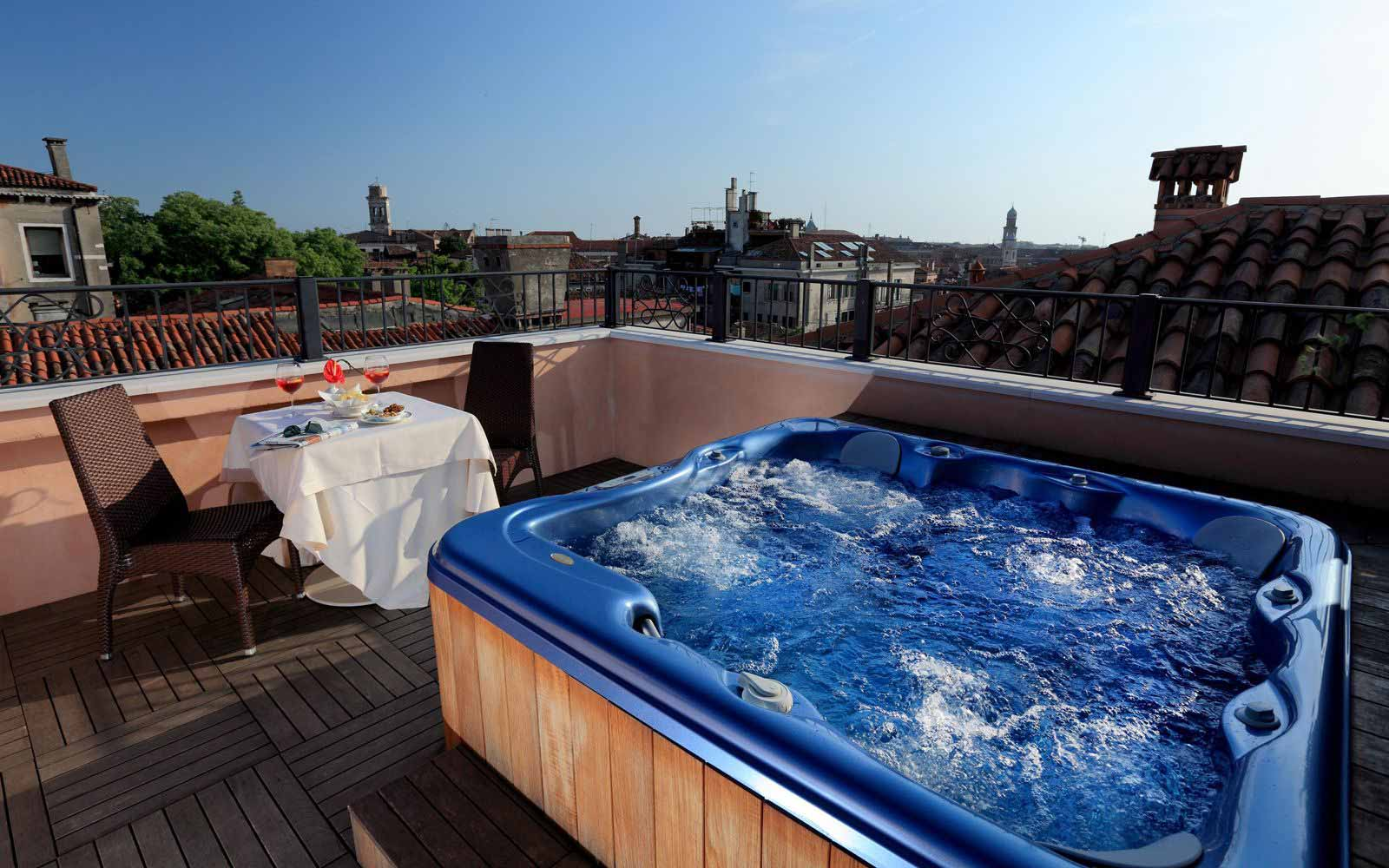 Rooftop terrace at Palazzo Stern Hotel
