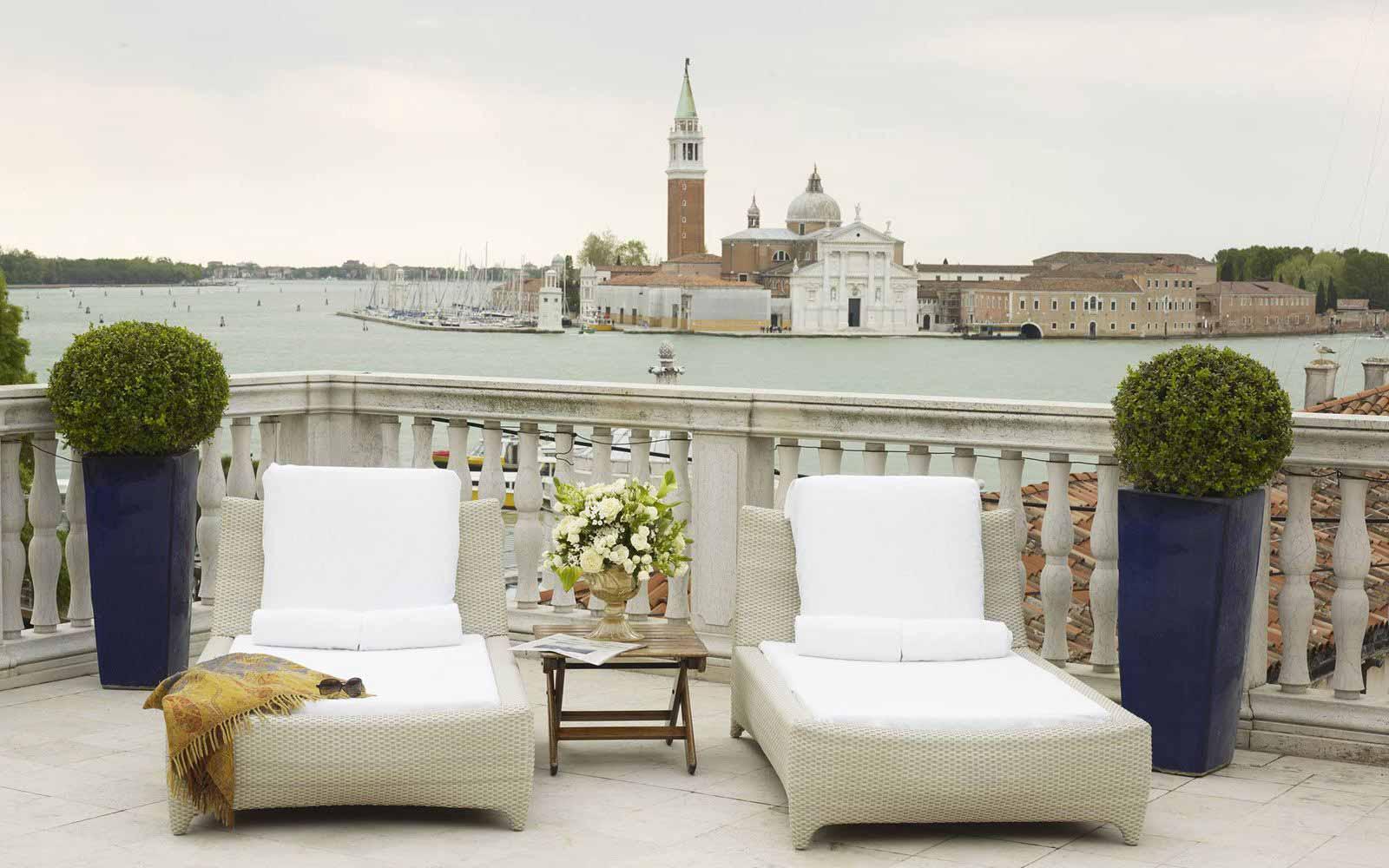 Private terrace at Luna Hotel Baglioni