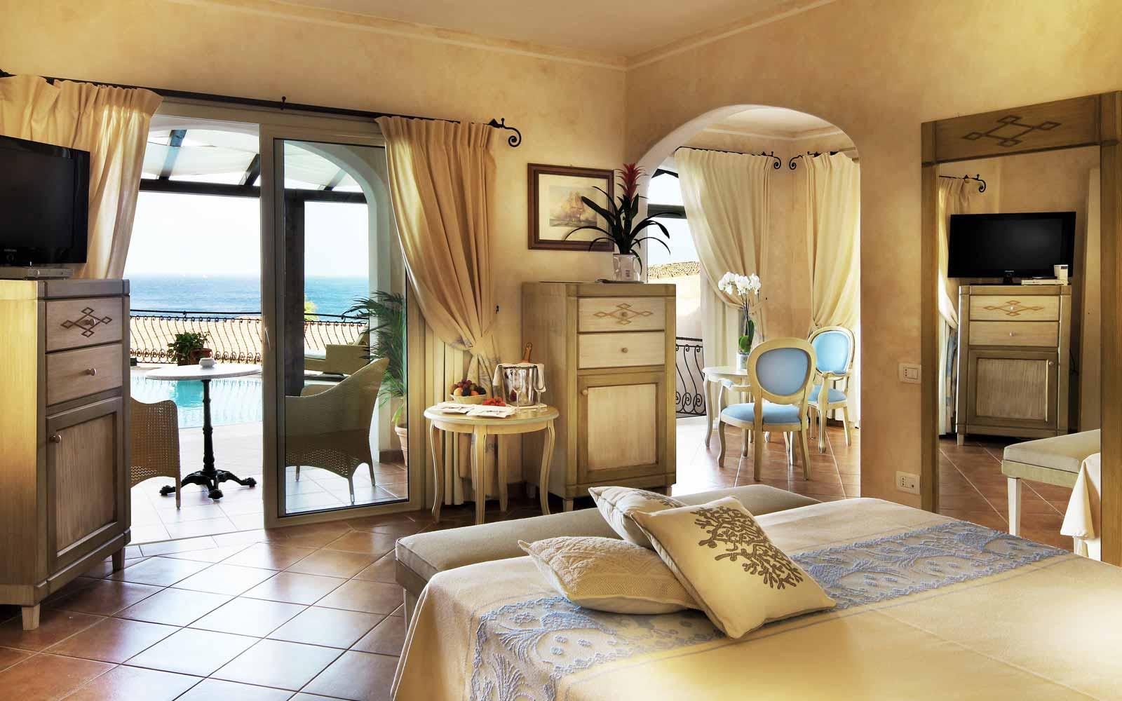 Presidential suite at Colonna Resort