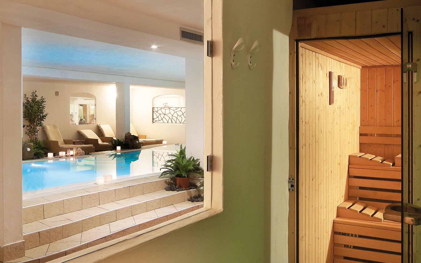 Sauna and Spa pool at Colonna Resort