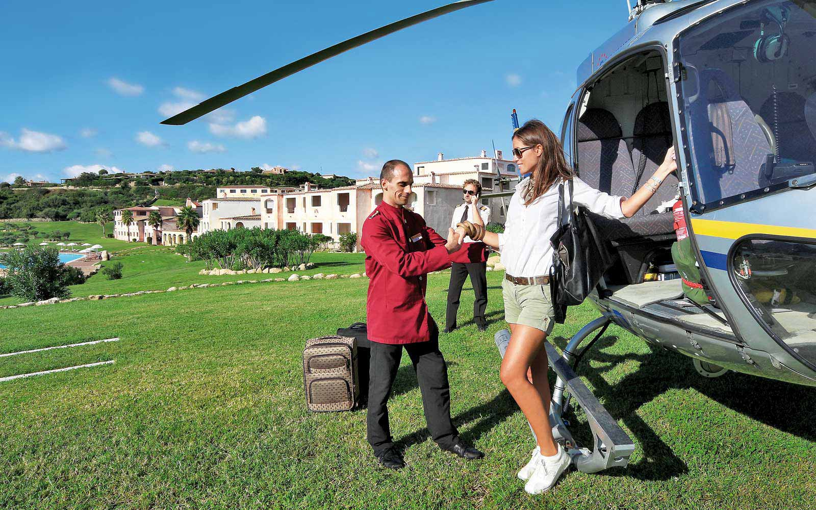 Helipad at Colonna Resort