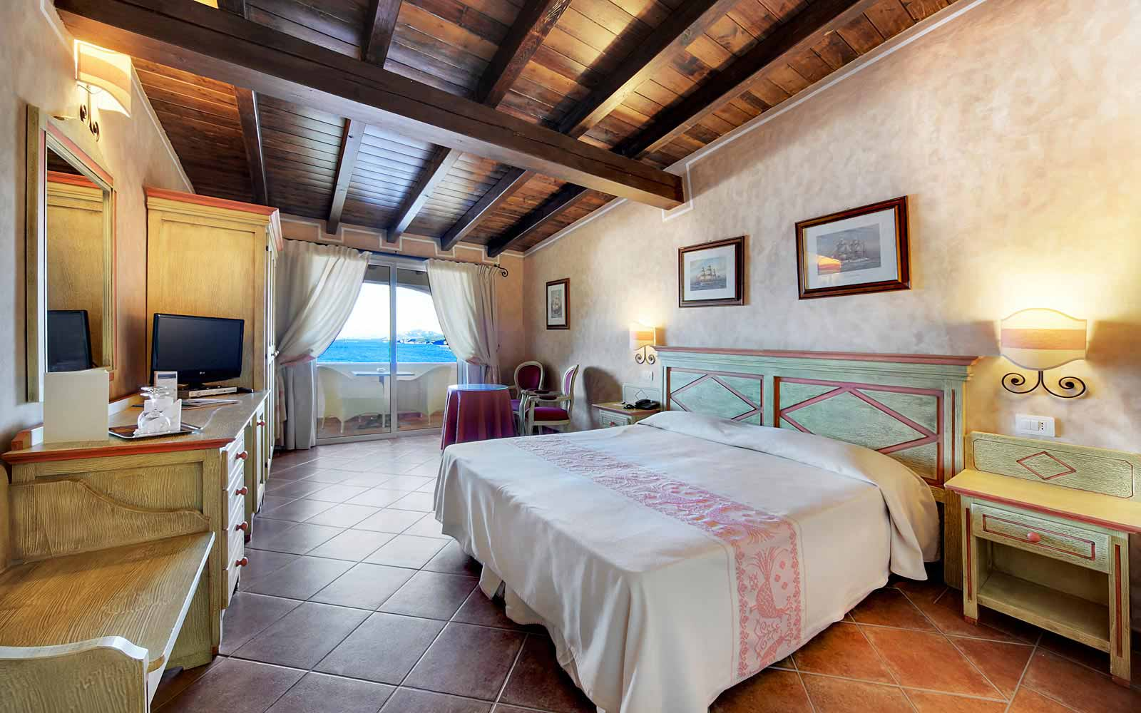 Standard sea view room at Colonna Resort