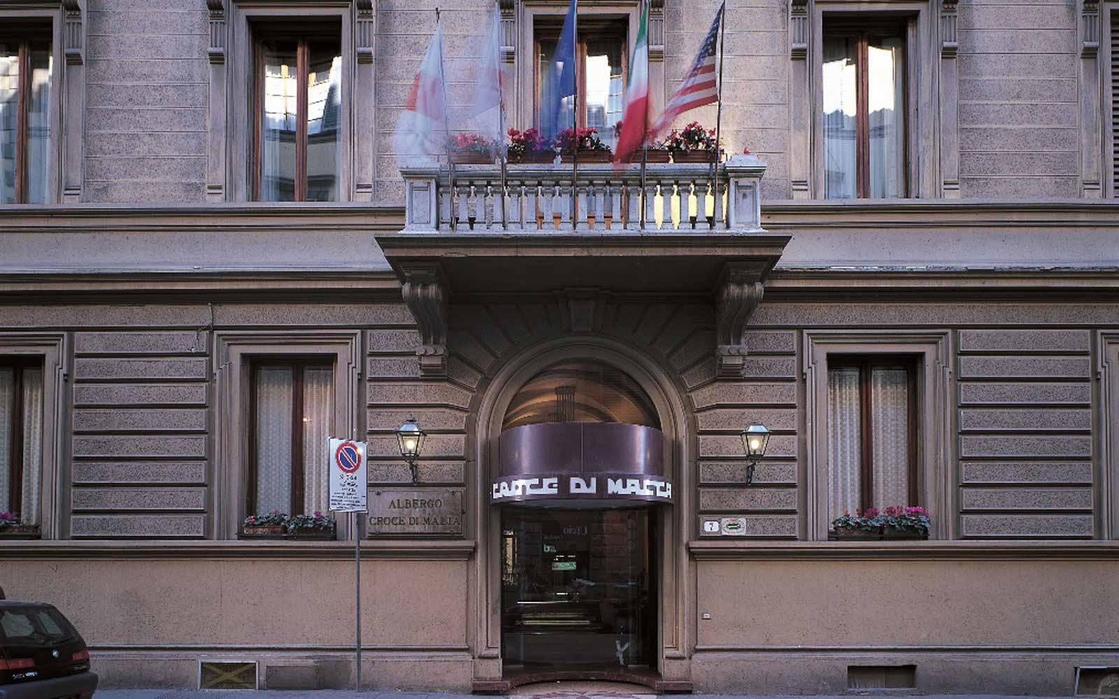 Entrance to Hotel Croce di Malta