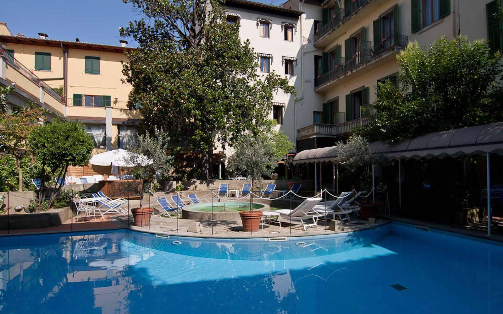 The pool at Hotel Croce di Malta